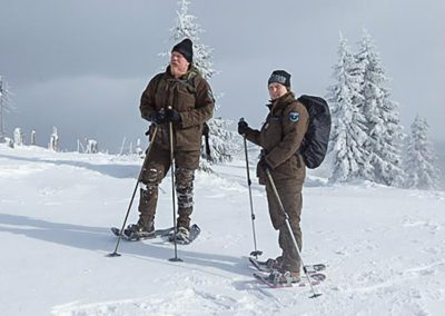 Gebietskontrolle im Winter (Foto: H.J. Mehlsam)