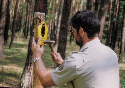 Beschilderung von Naturschutzgebieten